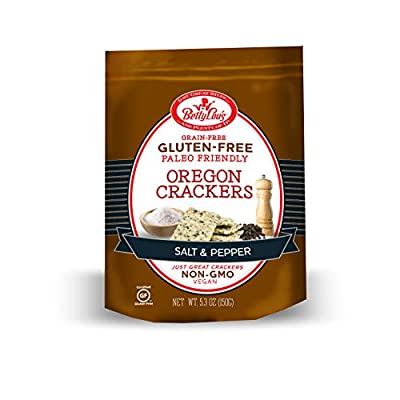 Betty Lou's Salt and Pepper Paleo Crackers, 5.3 Ounce
