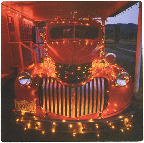 Jayne 1 Light - 3dRose LLC 8 x 8 x 0.25 Inches Mouse Pad, USA, Oregon, Vintage Fire Truck with Lights, Jaynes Gallery (mp_93502_1)