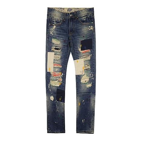 YFCTASPX Pantalones de Hombre Pantalones Vaqueros Moda Retro ...