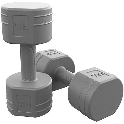 Tono Fitness par de Mancuernas Cemento, con Revestimiento - SDVCP-TN015, Gris