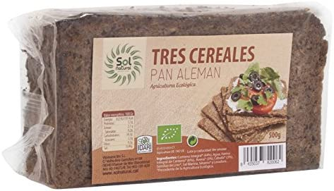 Sol Natural Pan Aleman 3 Cereales 500 Gramos: Amazon.es ...