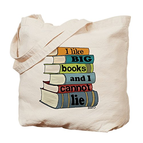 CafePress - I Like Big Books - Natural Canvas Tote Bag, Cloth Shopping Bag