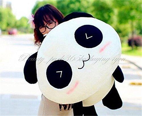 "Giant 70 CM/27.50"" Cute Panda Pillow Bolster Stuffed Plush Doll Toy Animal Kids Gift"