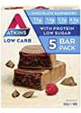 Atkins Chocolate Raspberry Bars | Keto Friendly Bars | 5 x 30g Low Carb Chocolate Bars | Low carb, Low Sugar, High…