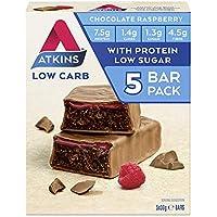 Atkins Chocolate Raspberry Bars   Keto Friendly Bars   5 x 30g Low Carb Chocolate Bars   Low carb, Low Sugar, High…
