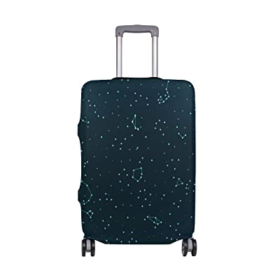 LEISISI Cute Sugar Skull Luggage Cover Elastic Protector Fits XL 29-32 in Suitcase