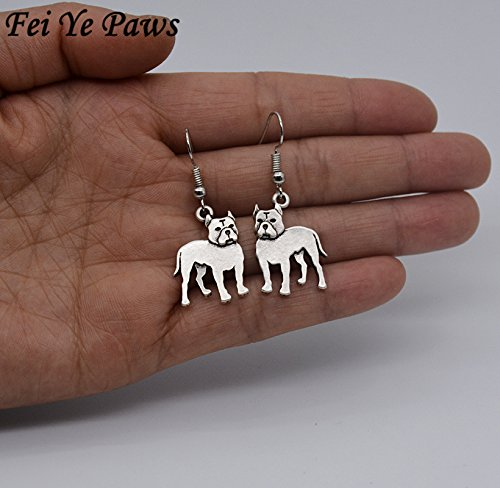 Nynoi earrings for pitbull dog pet Earrings For Women Boucle D'oreille Indian (Sculpture Tanzanite Ring)