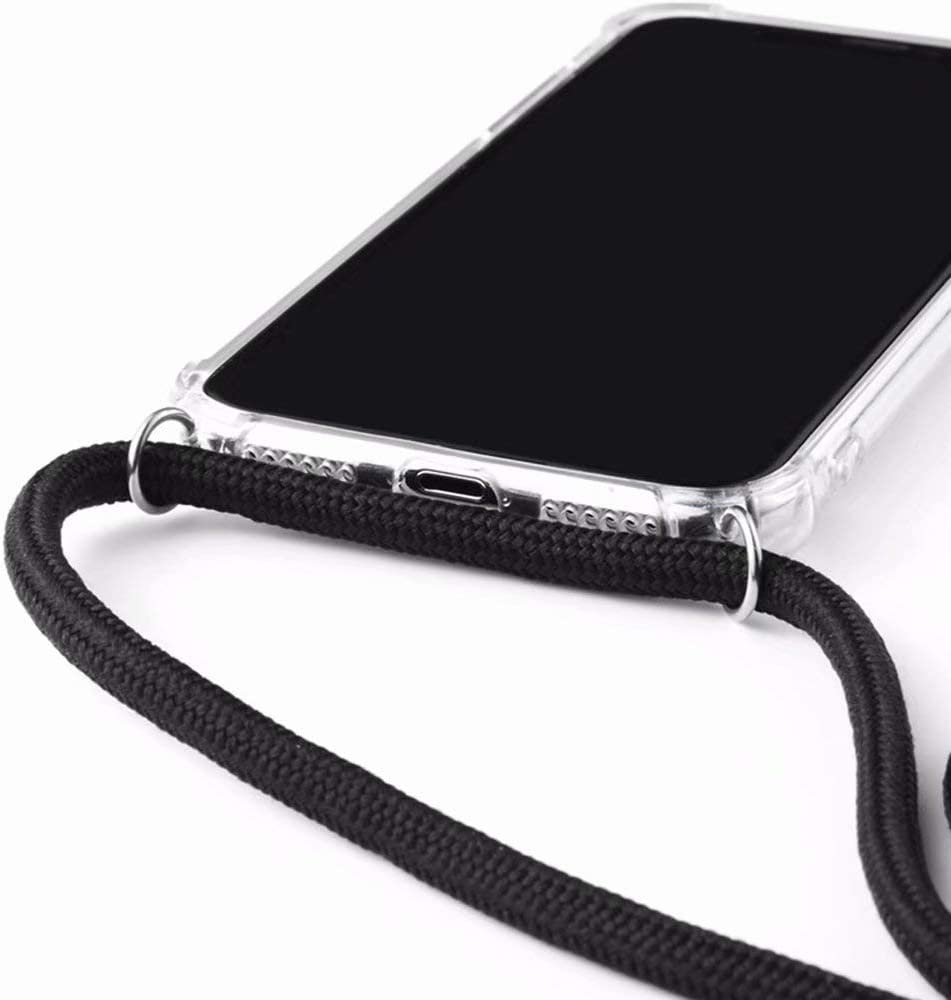 2ndSpring Funda con Cuerda Compatible con Xiaomi Mi 9 Lite//Mi A3 Lite,Colgante Collar Correa de Cuello Cadena Cord/ón,Azul