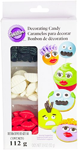 Wilton 710-1196 Icing Candy Decorating Stencil, Lips and Mustaches