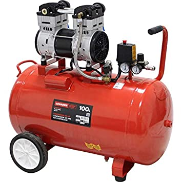 Compresor de aire silencioso (sin aceite) 100L 2HP: Amazon.es: Bricolaje y herramientas