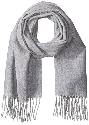 Phenix Cashmere Women's Solid 100 Percent Cashmere Scarf, Grey, One Size by Phenix Cashmere