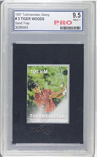 Tiger Woods Other ENCASED IN SLAB (Trading Card) 1997 Turkmenistan Stamp - [???] #3 from Turkmenistan Stamp