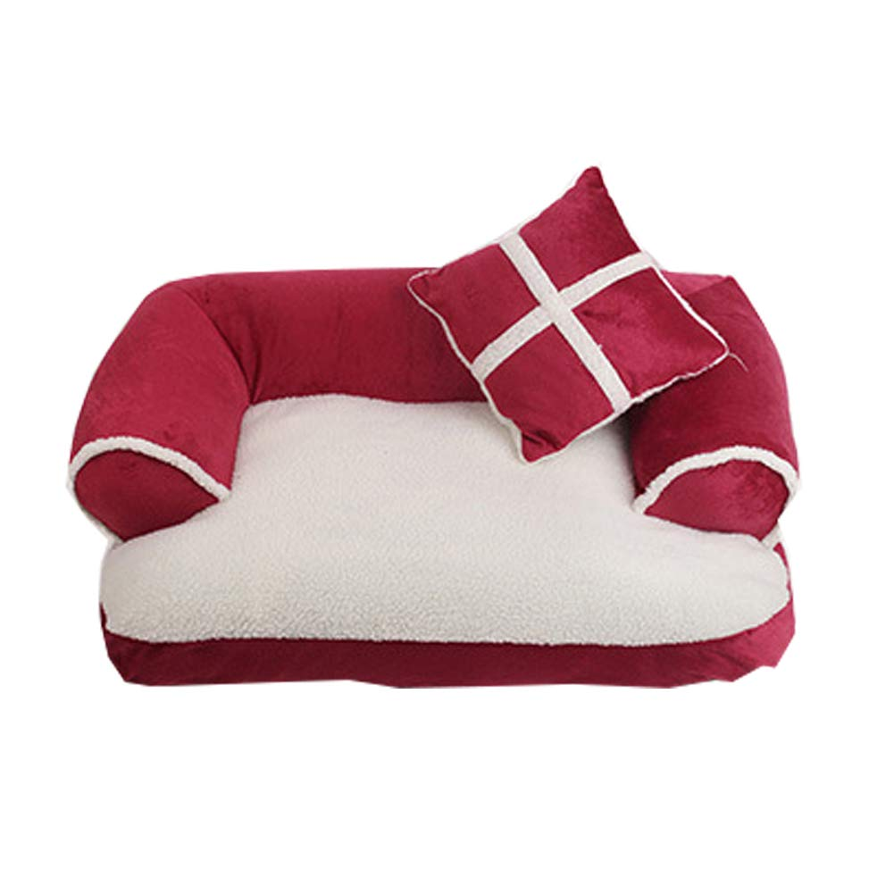 Red Medium Red Medium The Dog's Bed, Premium Plush Orthopedic Memory Foam Waterproof Dog Beds, Eases Pet Arthritis & Hip Dysplasia Pain, Therapeutic