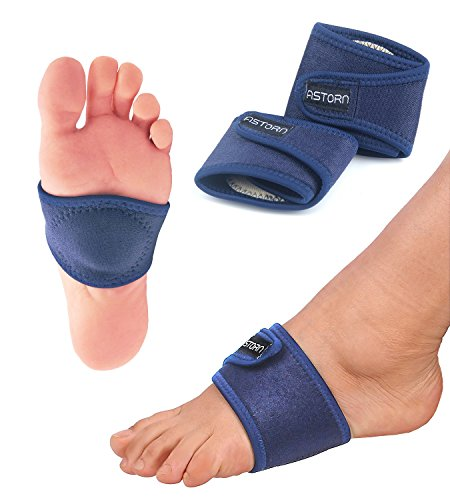 Foot Pain Relief Arch Support Brace for Women & Men Set of 2 | Compression Arch Support Sleeves with Comfort Gel Cushions | Adjustable Plantar Fasciitis, Bunion and Arch Pain Relief Brace by Astorn by Astorn (Image #5)