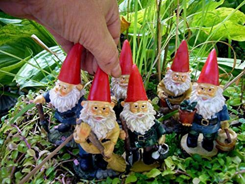 Miniature Fairy Garden Gnome Travelocity Look Alike Set Gnome w Pick MR