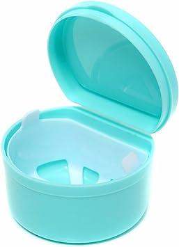 Artibetter Estuche para dentadura con colador de dentadura postiza caja de almacenamiento: Amazon.es: Salud y cuidado personal