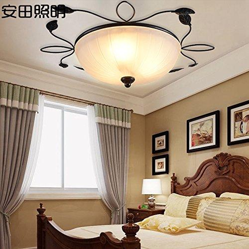 BGmdjcf An Idyllic Round Iron Ceiling Light , Electoral 54Cm Health Led Warm Light 37W