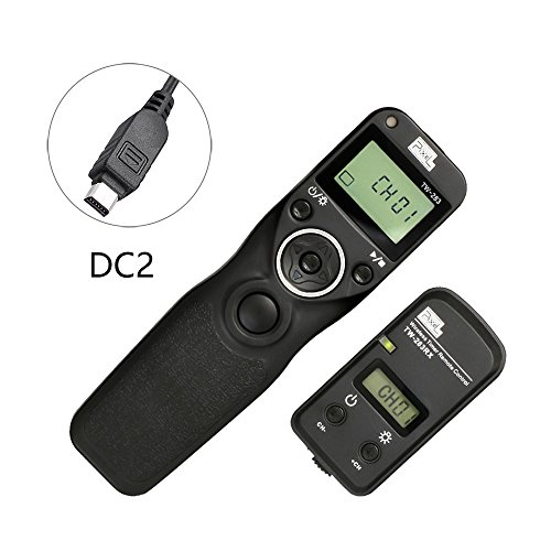Timer Remote Shutter (Pixel TW-283/DC2 LCD Wireless Shutter Release Timer Remote Control for Nikon D3100 D3200 D3300 D5000 D5100 D5200 D5300 D5500 D90 D7000 D7100 D7200 D600 D610 D750)