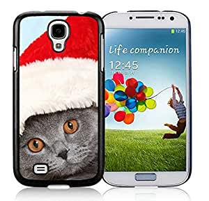 Personalized Samsung S4 TPU Protective Skin Cover Christmas Cat Black Samsung Galaxy S4 i9500 Case 26