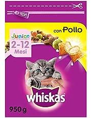 Whiskas Kattenvoer droogvoer Junior <1 voor kitten/kitten met kip, verschillende verpakkingsmaten