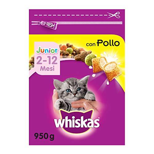 Whiskas Katzenfutter Trockenfutter Junior <1 für Kätzchen/Kitten mit Huhn, verschiedene Packungsgrößen