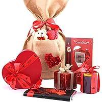 Zoroy Luxury Chocolate Love Bag With Card, Chocolates, Bar, Teddy, Heart Chocolate, Candle