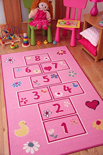 the rug house colourful bright pink playtime girls hopscotch kids rh amazon co uk Girls Bedroom Sets Rugs for Teen Girls Bedrooms