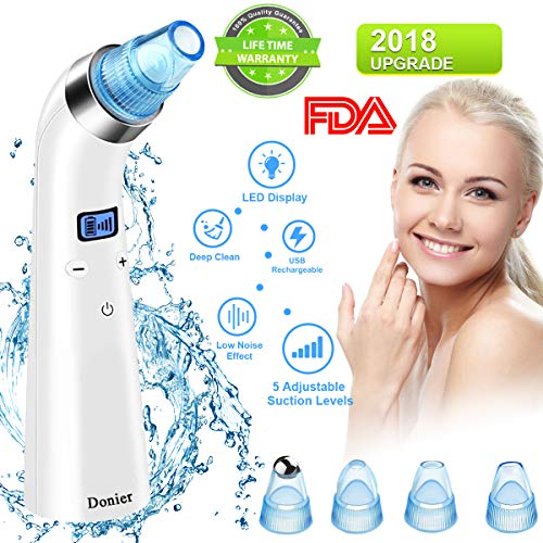 Blackhead Remover Vacuum, Electric Skin Pore Cleaner Blackhead Vacuum Suction Removal Rechargeable Skin Peeling Machine Comedone Acne Comedo Suction Beauty Device For Nose Face Women Men