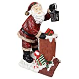 Christmas Decorations – Raising The Roof With Santa Claus Statue with Christmas Toys and Metal Lantern