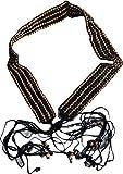 KVR Valentine's Day Ethnic Rustic Fashion Party glass bead shell work handmade girl teen waist belt (Wood Bead-8)