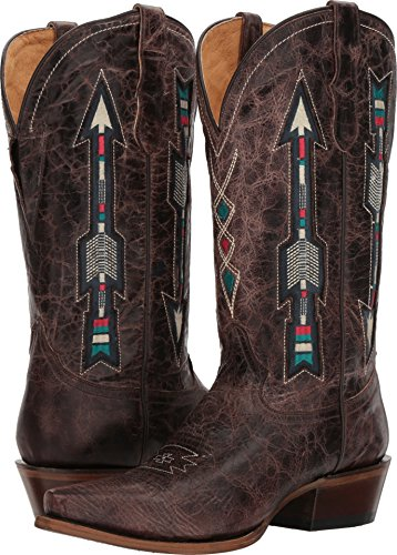 Vamp Women's Brown Roper Arrows Western Boot pvgUzWc