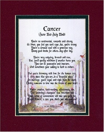 Amazoncom A Cancer Horoscope Zodiac Poem Gift Present For 18th