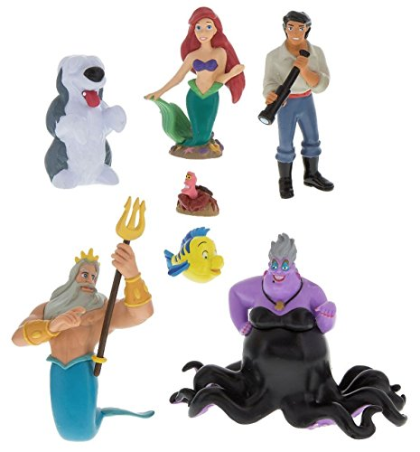 Disney Parks Exclusive Little Mermaid Ariel Collectible Figurine Playset Play Cake Topper (Ariel Mermaid Cake)
