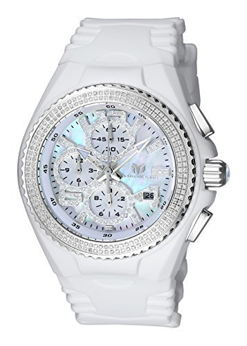 Technomarine Womens Cruise Quartz Stainless Steel and Silicone Casual Watch, Color:White (Model: TM-115241)