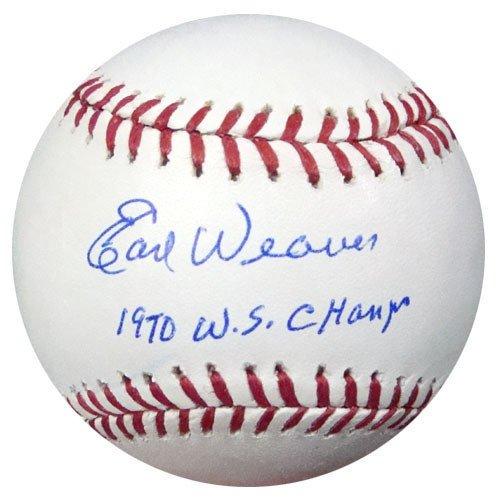 Earl Weaver Signed Rawlings Official Major League Baseball Baltimore Orioles 1970 WS Champ - PSA/DNA Authentication - Autographed MLB Baseballs