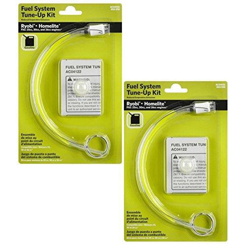 Ryobi AC04122 Primer Bulb and Fuel Line Kit for Ryobi and Homelite products (2 Pack)