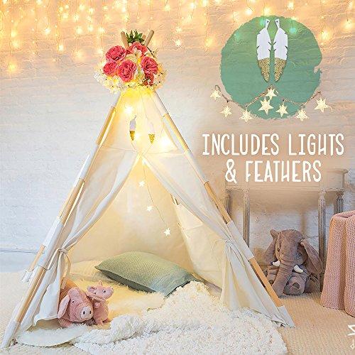 Kids Teepee Tent for Kids - Tee Pee Kids Tent - Kid Teepee Play Tent for Boys & Girls - Kids Play Tent - Kids Tent Indoor - Baby Teepee Tent for Boys - Play Teepee Tents for Kids - Tipi Tent Kids