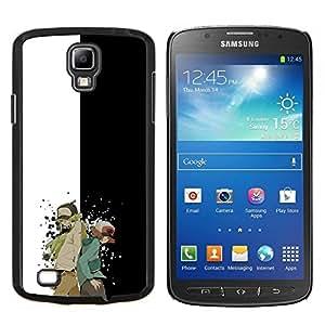 Meter Monster Carácter- Metal de aluminio y de plástico duro Caja del teléfono - Negro - Samsung i9295 Galaxy S4 Active / i537 (NOT S4)