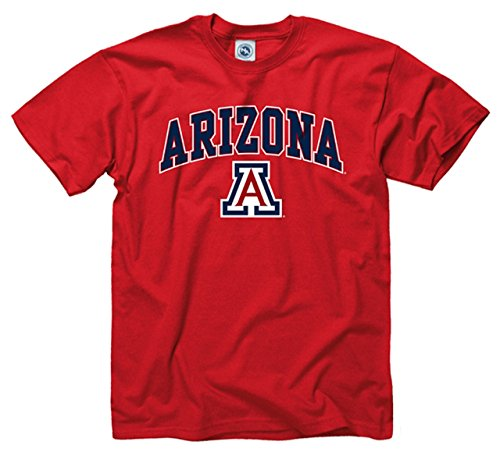 Campus Colors Arizona Wildcats Adult Arch & Logo Gameday T-Shirt - Red, ()