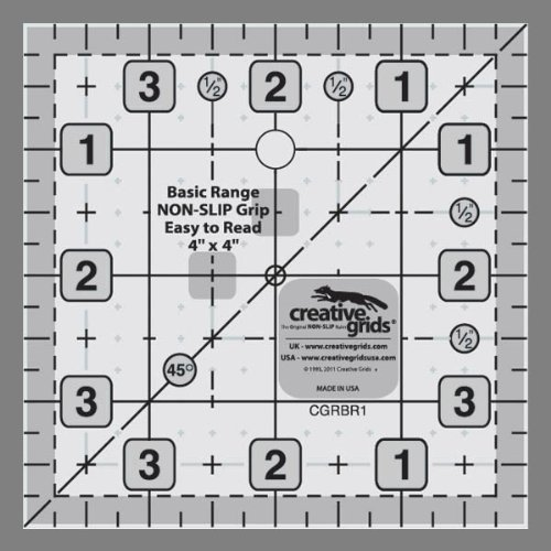 "Creative Grids Basic Range 4"" Square Quilt Ruler"