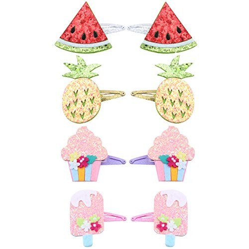 Baby Snap Hair Clips Toddler Hair Bows Clips Hair Barrettes For Girls 8Pcs Per Pack