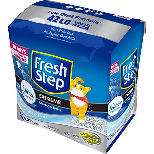 Fresh Step Extreme Scented Litter with the Power of Febreze, Clumping Cat Litter, 42 Pounds - Odor Control Litter
