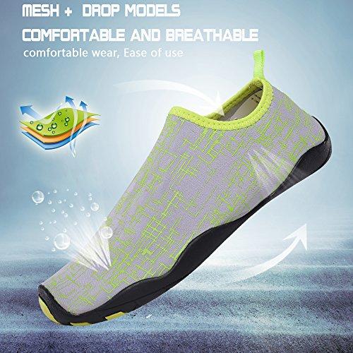 UNN Water Shoes Multifunctional Quick-Dry Barefoot Flexible Skin Aqua Socks For Beach Swim Surf Yoga Exercise Light Grey WRBQ7pxTD