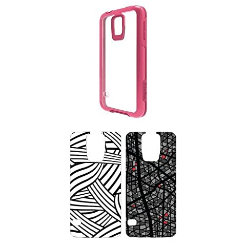 OtterBox Symmetry Samsung Galaxy S5 Sorbet Crystal Case w/ 2pk Graphic Insert - Silly String andGrey (Otterbox Samsung Galaxy S5 Skin)