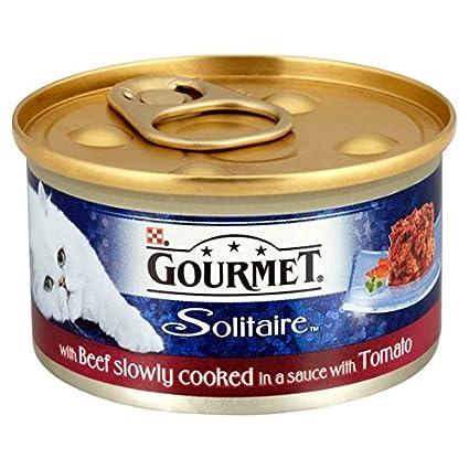 Gourmet solitario con carne en salsa de tomate 85g