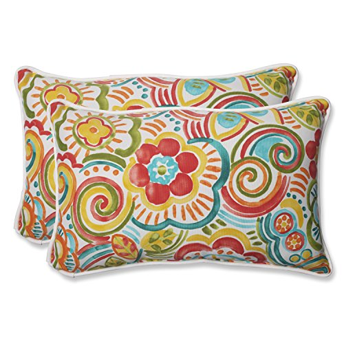 Pillow Perfect 569062 Outdoor Bronwood Carnival Rectangular Throw Pillow, 11.5 x 18.5 , Multicolored