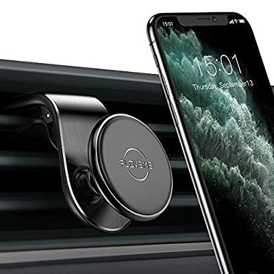 Magnetic Car Phone Mount-FLOVEME Upgraded L Type Clip Air Vent Cell Phone Holder-for Car N52 Magnet 360 Degree GPS Holder Mount for iPhone 11 Pro Max XR XS X 8 7 Plus Samsung Galaxy Note 10 S9 S8
