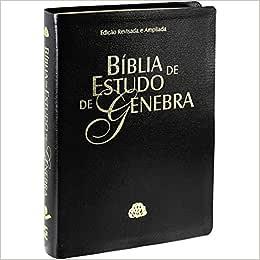 Biblia De Estudo Genebra (Capa Em Couro Bonded Preta)