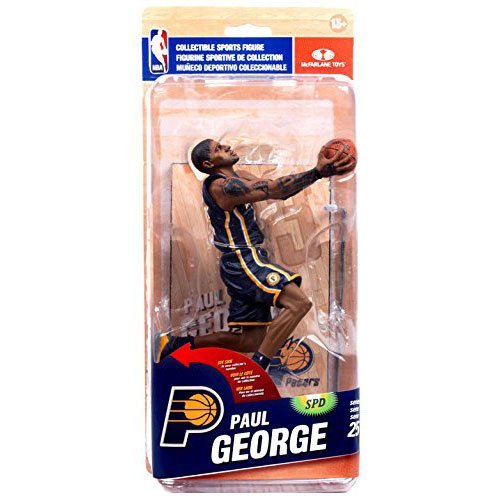 McFarlane Toys NBA Indiana Pacers Sports Picks Series 25 Paul George Collector Level Action Figure [Blue Uniform] by NBA Basketball Sportspicks Series 25 Action Figures