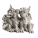Dragons In Love Garden Statue